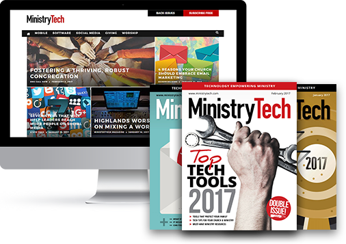 MinistryTech website and digital magazine