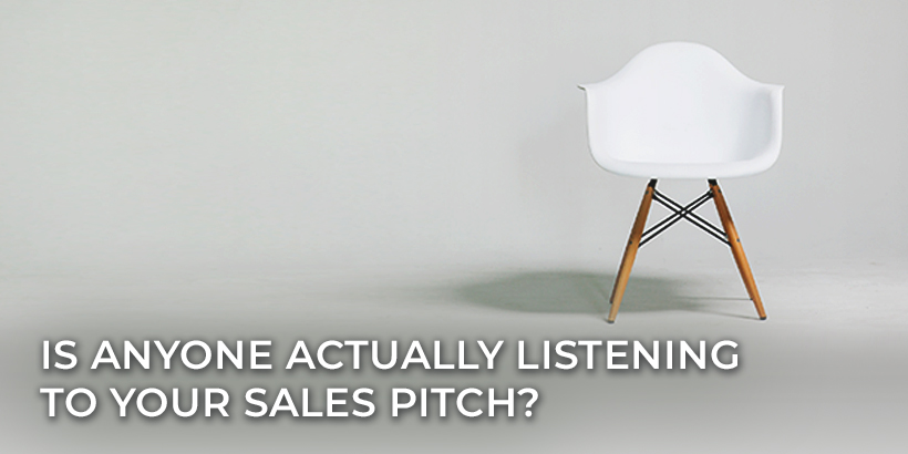 Four reasons why you should focus your marketing efforts to grow an audience. A white empty chair